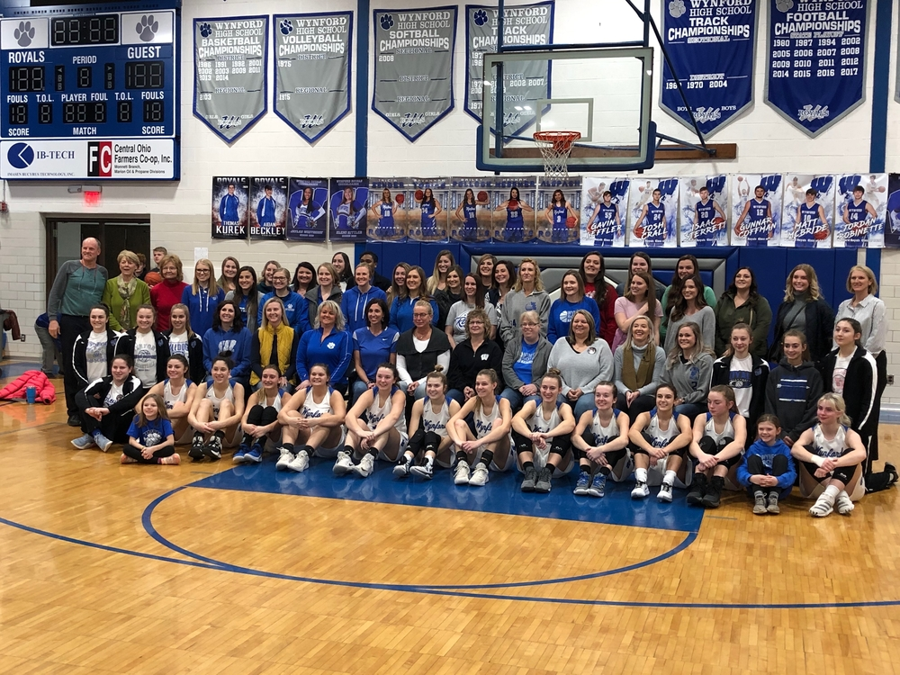 A reunion of past and present Lady Royal Basketball Players