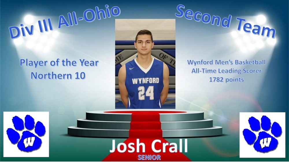 Josh Crall Named Second Team All-Ohio