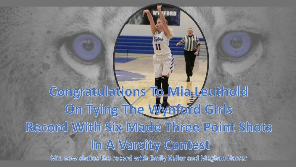 Mia Leuthold Ties 3-point Record
