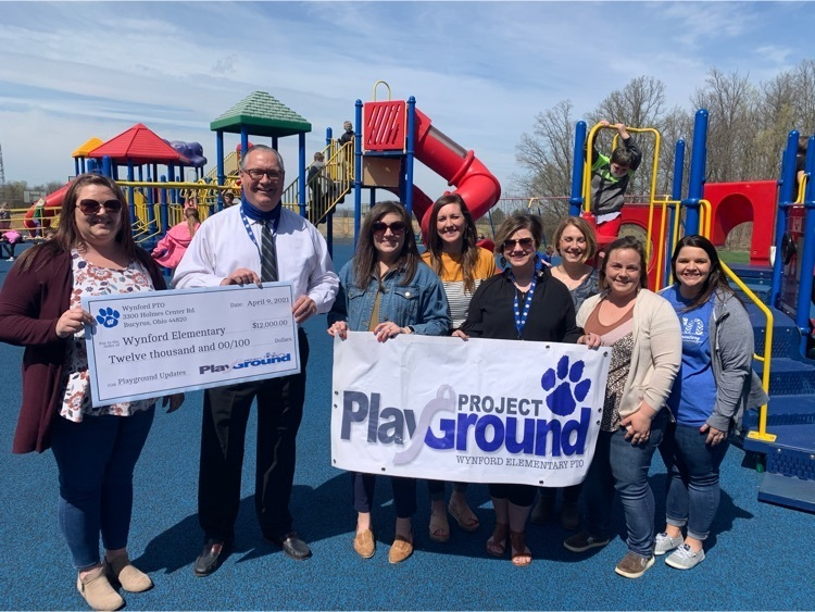 Wynford Elementary PTO's Project Playground Presented Check