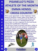 Emma Hensel Girls Athlete of the Month