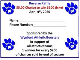 Purchase Chances to Win Reverse Raffle at Home Boys/Girls Basketball Games