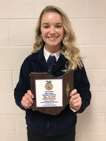 Allison Scott places 4th in State FFA public speaking contest