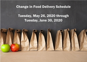 Change in Food Delivery Schedule Starting May 26, 2020
