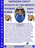 Thomas Kurek Boys Athlete of the Month