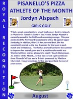Wynford's Jordyn Alspach August Female Athlete of the Month