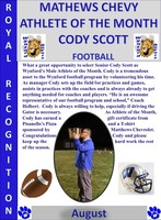 Wynford's Cody Scott Male Athlete of the Month