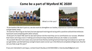 Wynford Cross Country 2020 Sign Ups