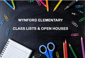 Wynford Elementary - Class Lists and Open Houses