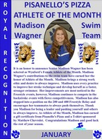 Madison Wagner Girls Athlete of the Month