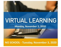 Virtual Learning - Monday, November 2, 2020