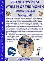 Wynford's Emma Steiger August Female Athlete of the Month