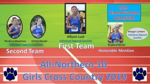 Girls Cross Country N-10 Honors and Regional Qualifiers