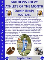 Wynford's Dustin Brady Male Athlete of the Month