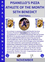 Seth Benedict Boys Athlete of the Month