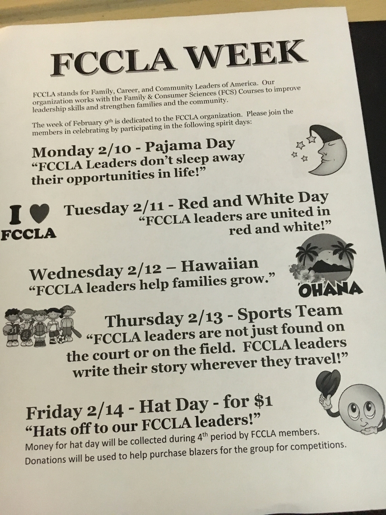 FCCLA Spirit Week